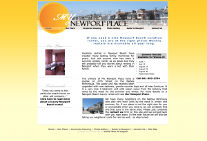 my newport place site example for gws web design portfolio