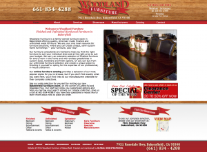 woodland furniture bakersfield site example for gws web design portfolio