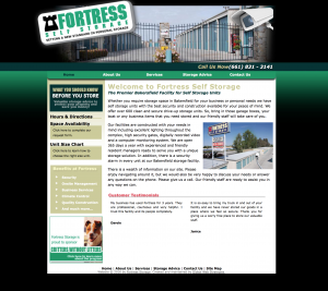 fortress storage bakersfield site example for gws web design portfolio