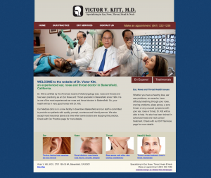 victor kitt ear nose and throat doctor site example for gws web design portfolio