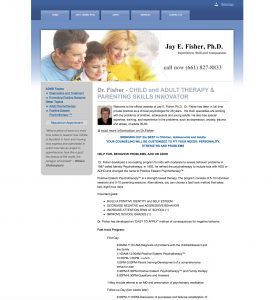 jay fisher adhd psychologist site example for gws web design portfolio