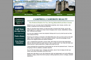 campbell cameron realty site example for gws web design portfolio