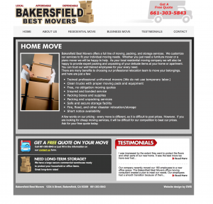 bakersfield best movers site in gws portfolio