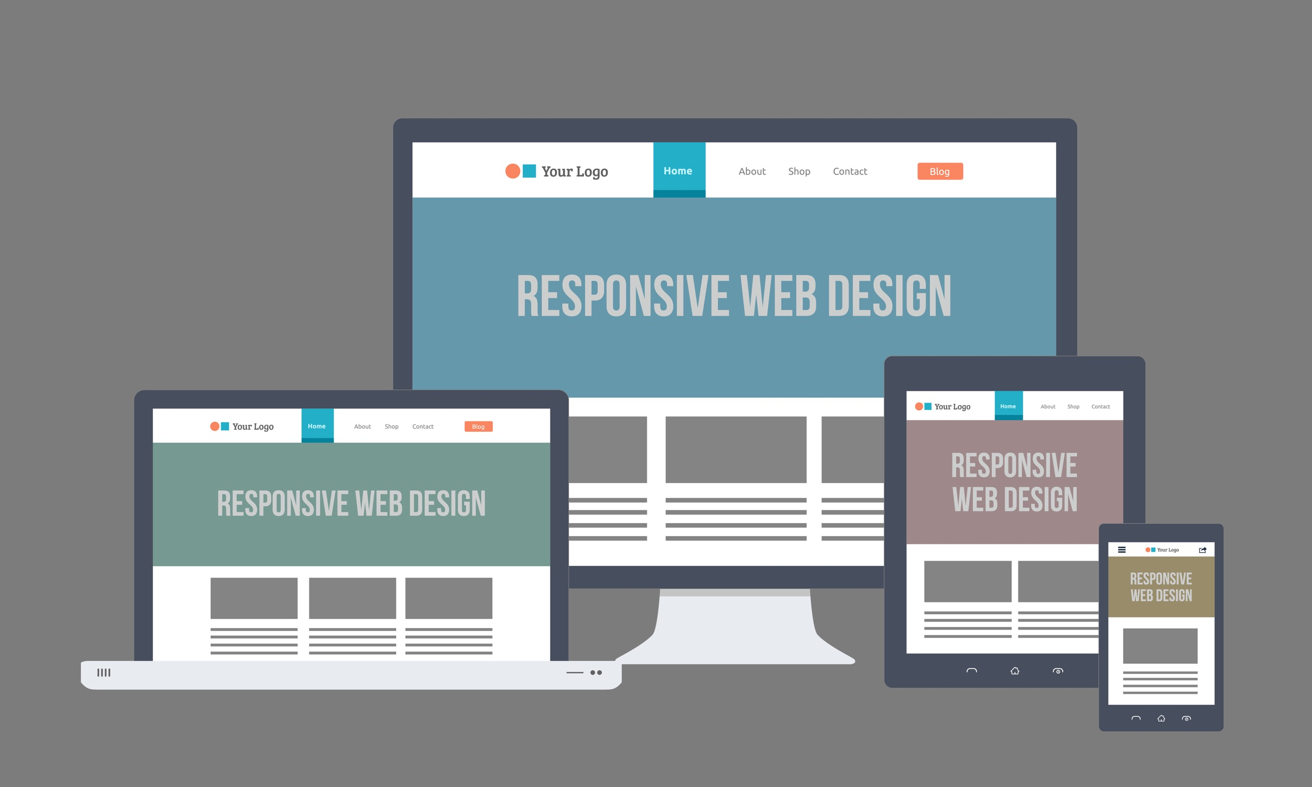 responsive web design example on gws web design