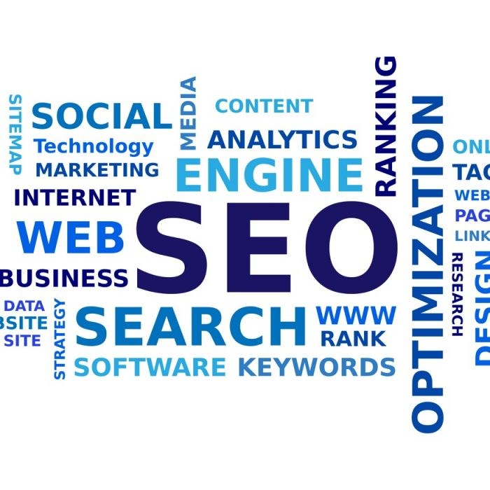 SEO word cloud on gws web design