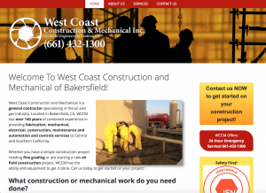 west coast construction website