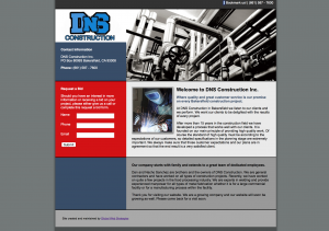 dns construction site example for gws web design portfolio