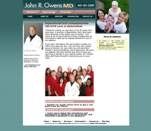 john owens md site example for gws web design portfolio
