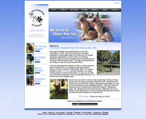 eye dog foundation site example for gws web design portfolio