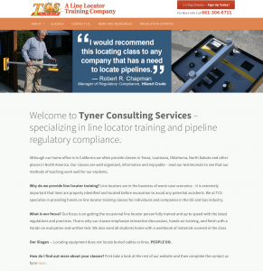 tcs line locator training site example for gws web design portfolio