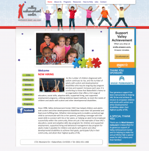 valley achievement center bakersfield site example for gws web design portfolio