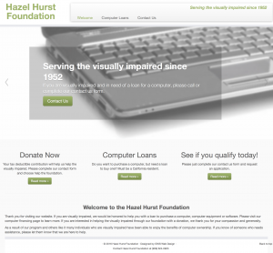 hazelhurst foundation site example for gws web design portfolio